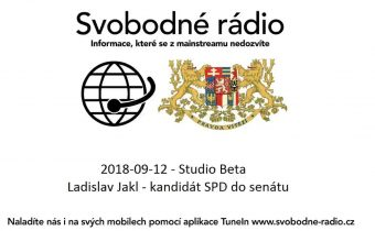 2018 09 12 Studio Beta Ladislav Jakl kandidat SPD do senatu