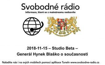 2018 11 15 – Studio Beta – Generál Hynek Blaško o současnosti