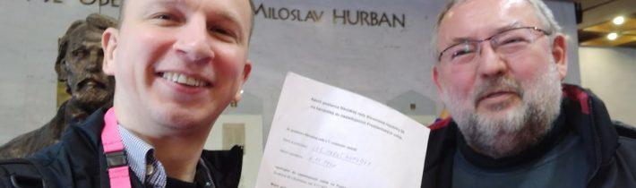 Live: Kandidatúru mi podpísal Maroš Kondrót zo SMERu. Potrebujem už iba dvoch poslancov #11.11