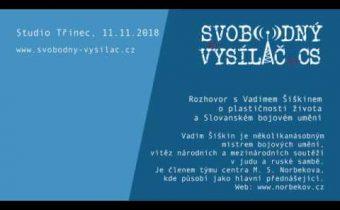 SVCS 2018-11-11 Studio Třinec – O Slovanském bojovém umění s Vadimem Šiškinem