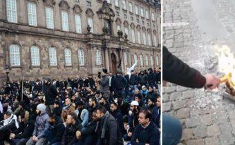 Islamisté se hromadně modlili před parlamentem v Kodani. Chtějí zrušit demokracii a zavést právo Šaría