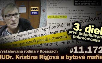 JUDr. Kristína Rigová a bytová mafia v Košiciach: 3. diel – prvé hlavné pojednávanie #11.172