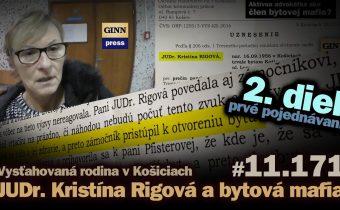 JUDr. Kristína Rigová a bytová mafia v Košiciach: 2. diel – prvé hlavné pojednávanie #11.171