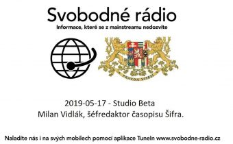 2019-05-17 – Studio Beta  – Milan Vidlák, šéfredaktor časopisu Šifra.