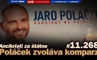Live: Poláček v Košiciach zvoláva komparz. Ancikristi za štátne #11.268