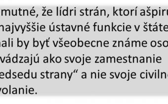 "Kandidátky: Samý kvázi ""expert, odborník a aktivista"""