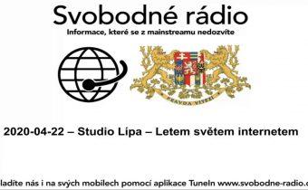 2020 04 22 – Studio Lípa – Letem světem internetem
