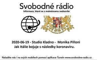 2020-06-19 – Studio Kladno –  Monika Pilloni – Jak Itálie bojuje s následky koronaviru.
